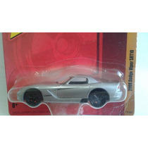 Miniatura Dodge Viper Srt 10 Prata Johnny Lightning Novo !