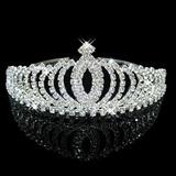 Tiara Coroa Modelo Princesa Com Strass Debutantes / Noivas
