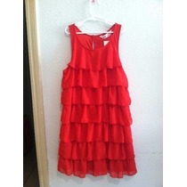 Hermoso Vestido Rojo Vivo Para Tu Graduada De Primaria