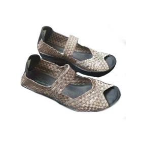 Sandaliasc/plataform Mujer Marron Bronce Skechers San Miguel