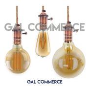 3 Portalampara Vintage + Lampara Filamento Dist + Cable3m