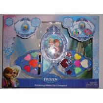 Kit Estojo De Maquiagem Infantil Frozen Anna E Elsa