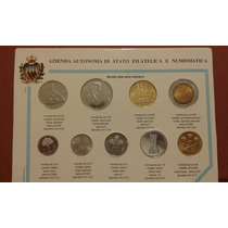 Serie Completa Monedas República San Marino Italia 1987