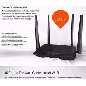 Roteador Wi-fi 11ac Tenda Ac6 Dual Band 1200mbps 2.4g / 5.0g