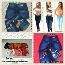 Kit Lojista Atacado 05 Calças Jeans+ 05 Shorts R$ 370,00