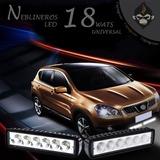 Neblinero Barra 18w - 6 Leds Blanco Potente Auto Moto Suv