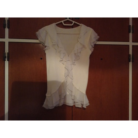 Sweater Camisa Gasa Blanco Cardigan Importado
