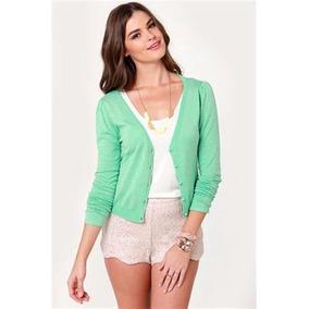 Saquito Sweater De Hilo Y Lycra. Variedad De Colores