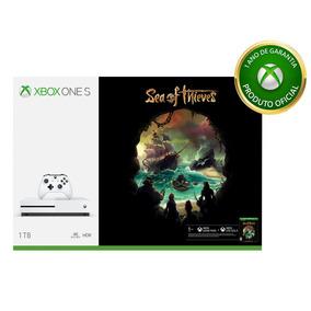 Xbox One S 1tb Branco + Controle + Sea Of Thieves
