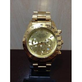 Relógio Masculino Em Aço Daytona Barato Rolex Dourado