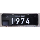 Placa Preta Decoração Dodge Dart 1974