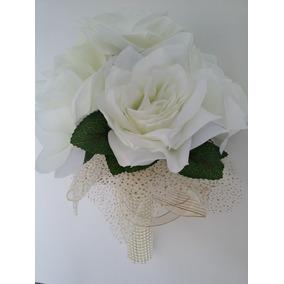 Buquê De Noivas Rosas Brancas Casamento Bodas Festas Eventos