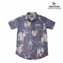 Camisa Floreada Rip Curl Original Hombre Talle M