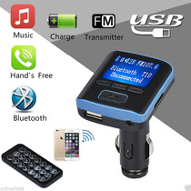 Transmisor Fm Bluetooth, Lector Usb, Aux, Sd, Control Remoto