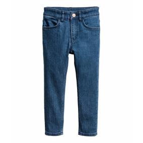 Jeans H&m Elastizado Skinny Importado Niño