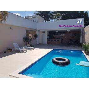 piscina de fibra completa e instalada 400 x 200 x 1 - Piscinas Pequeas De Obra