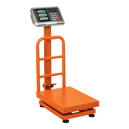 Báscula digital Truper BAS-PLA 200kg con mástil 127V naranja 50cm x 40cm