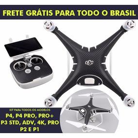 Kit Adesivos Drone Dji Phantom 4 4 Pro 3 2 Fibra De Carbono