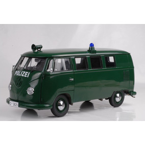 1956 Vw Combi Polizei Sunstar Escala 1/12