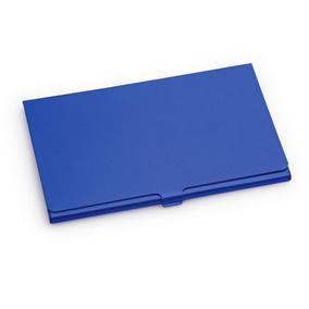 Tarjetero Porta Tarjetas En Aluminio Color Azul