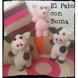 Muñeco Vaquita, Chanchito, Leon Tejido A Crochet