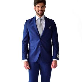 Traje Hombre Corte Slim Fit Color Azul Marino