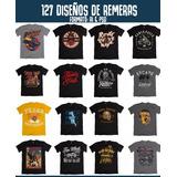 127 Diseños De Remeras Vectores Serigrafia - Ai & Psd
