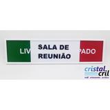 Placa Sala De Reunião Livre Ocupado Em Acrílco