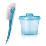 Dosador De Leite + Escova Lavar Mamadeira Avent Rosa Ou Azul