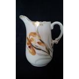 Jarrita Art Nouveau Porcelana Limoges Lirios Amarillos Y Oro