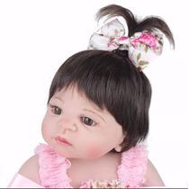 Boneca Bebe Reborn Victoria Toda De Silicone 55 Cm + Brinde