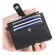 Carteira Ultrafina Couro Cartão Moeda Documento Dinheiro