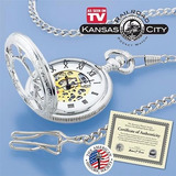 Reloj De Bolsilo De Coleccion Kansas City Railroad Original