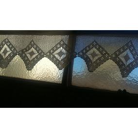 Cortina Visillo Bando Crochet Algodon 30 X 100 Cm