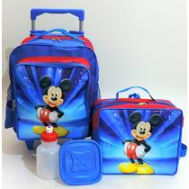 Mochila Mickey Mouse Rodinhas Infantil + Lancheira Tam (m)