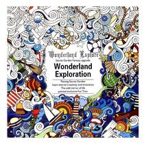 Libro De Colorear Wonderland Exploration Para Adultos Niños