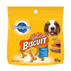 Pedigree Natural Biscuit Galleta Botana Perro Adulto 100ge