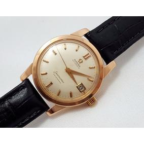 Relógio De Pulso Omega Seamaster Automático Ouro Rosé 18k