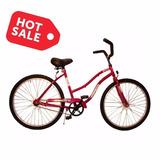 Bicicleta Playera Contrapedal Rodado 26 Dama Rosa