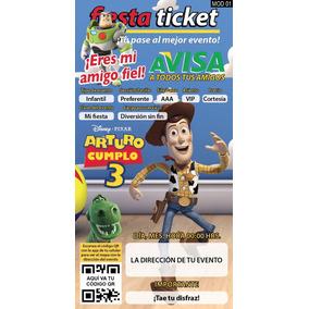 Invitaciones Toy Story Personalizables
