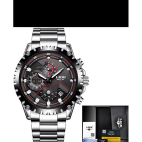 Lige Marca De Luxo Dos Homens Militar Relógio Prova D
