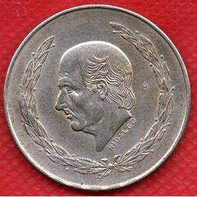 Moneda Mexicana Antigua Plata Hidalgo Cinco Pesos 1953 P147