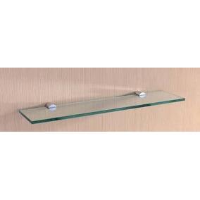 6 Prateleira De Vidro Para Banheiro/cozinha/sala/ 40cm X10cm