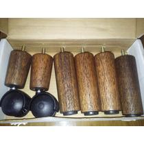 Pé De Cama Box C/6 Pes Madeira C/ 12cm De Altura P/cama Bau