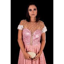 Vestido De Festa Curto/debutante/15 Anos/pérolas-p/entrega