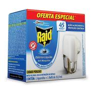 Repelente Raid Eletrico Liquido 45 Noites Anti Mosquitos