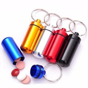Chaveiro Porta Comprimidos A Prova D´agua - Várias Cores