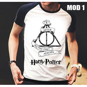 Camisa/camiseta Raglan Harry Potter Pronta Entrega