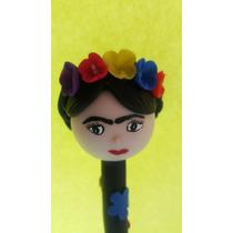 Hermosa Pluma De Frida Kahlo Pasta Francesa!!
