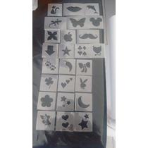Molde Para Depilação Artística Glitter Spencils C/25 Moldes